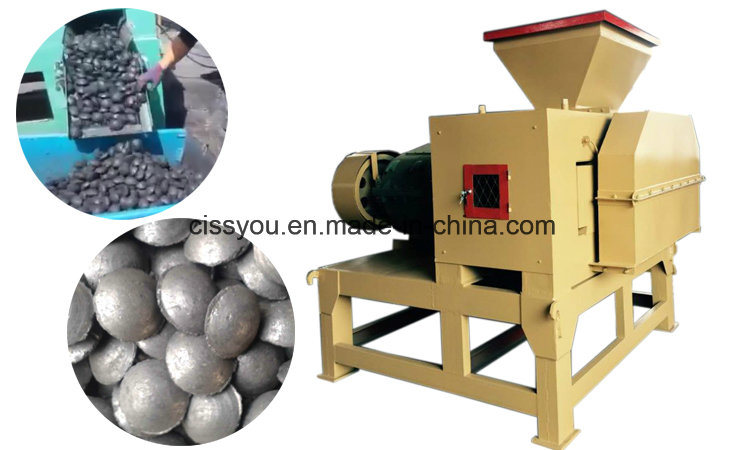 China Wood Sawdust Charcoal Briquette Pellet Press Extruder Machine