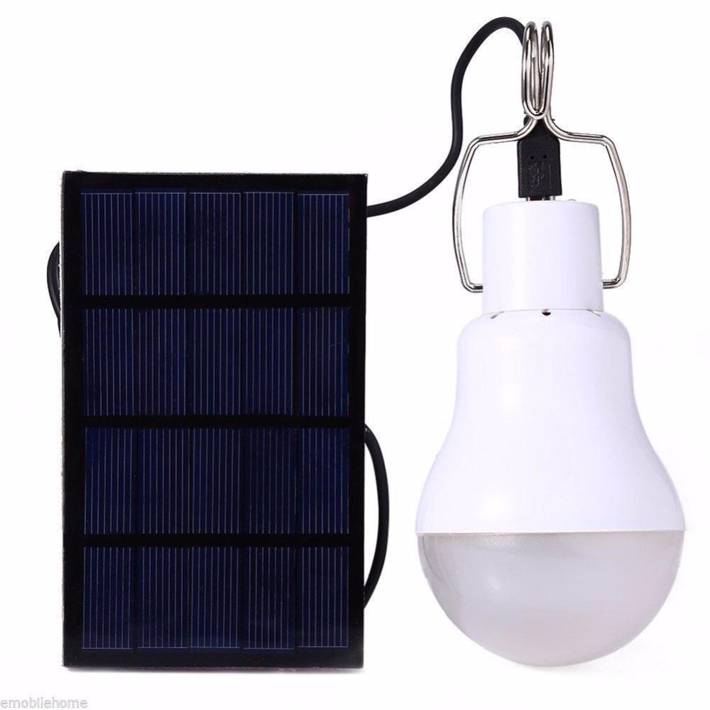 Solar Energy Saving LED Bulb 15W Solar Camping LED Lamp