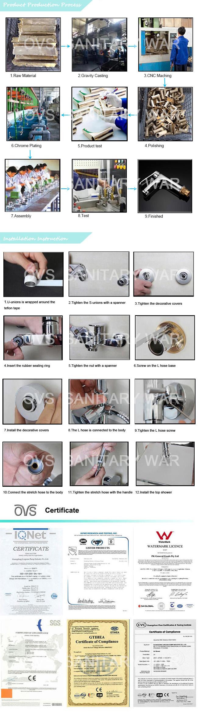 Multi-Function High Quality Bathroom Accessories Rain Shower Head