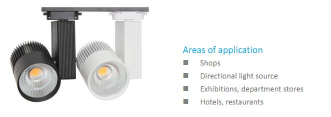 COB CREE Commercial Lighting LED Track Spotlight