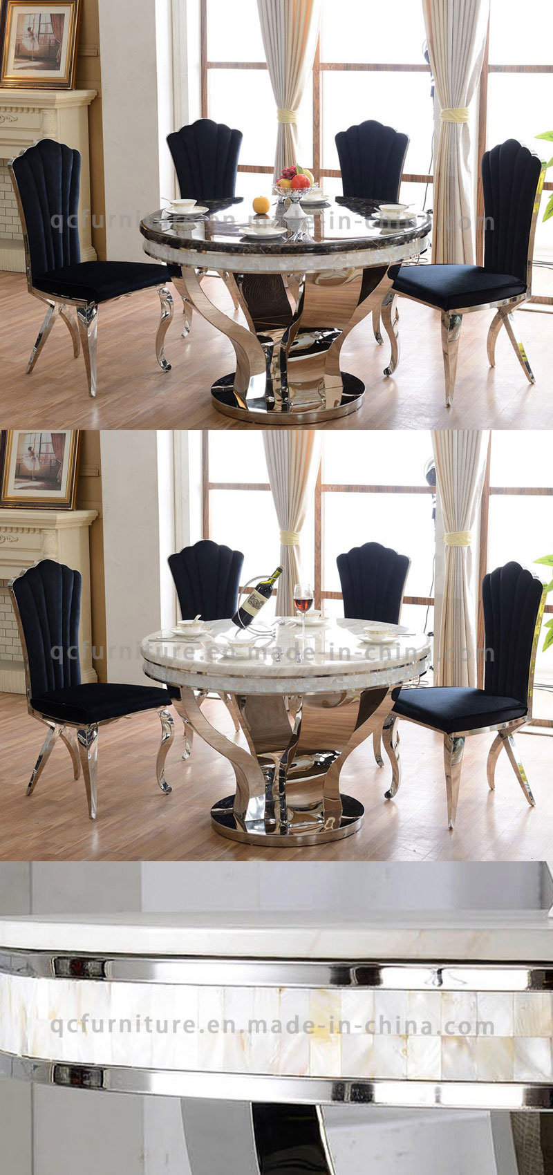 Home Furniture Fashion Design Marble Granite Dining Table