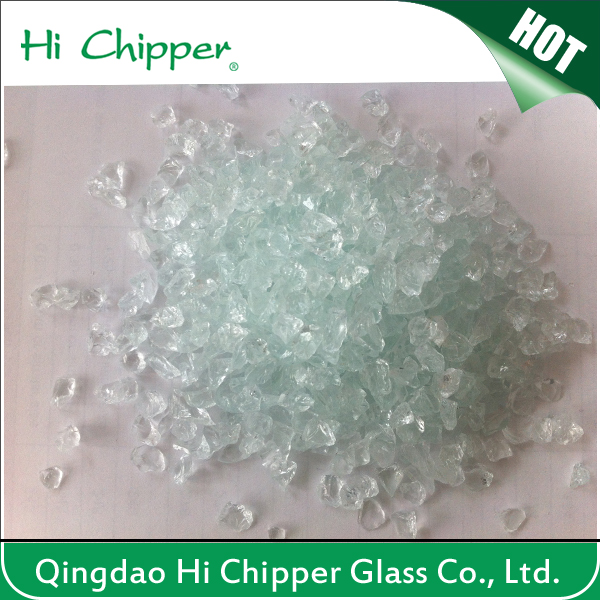 Crushed Light Green Glass Chips