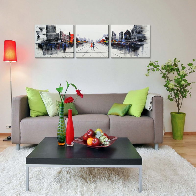 Hand-Painted Modern Wall Art Abstract Oil Painting on Canvas