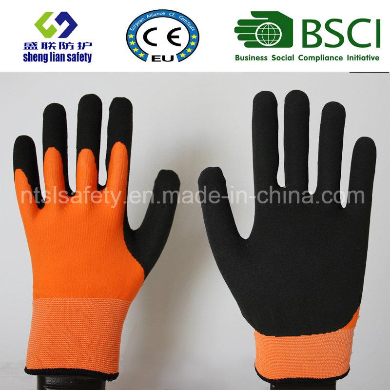 Nitrile Coating, Sandy Finish Safety Work Gloves (SL-NS117)