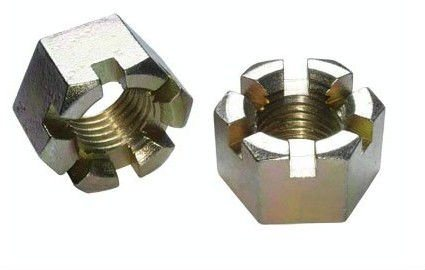 DIN935 Hexagon Slotted Castle Nuts with Metric Coarse, Fine Pitch