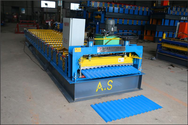 Dixin Galvanized Steel Type Corrugated Iron Roofing Machine