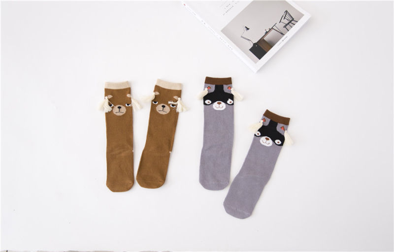 Fancy Kid Cotton Socks Coffee Bear Pattern Lovely Popular Children Socks