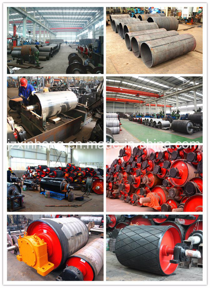 Belt Conveyor Component -- Pulley with Rubber Casting