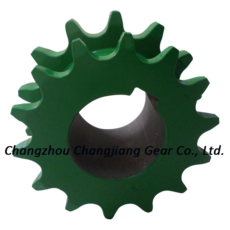 Agricultural Motorcycle Chain Double Sprocket Wheel with Keyway
