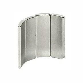 N35h Nickel Arc Neodymium Magnets (A-006)