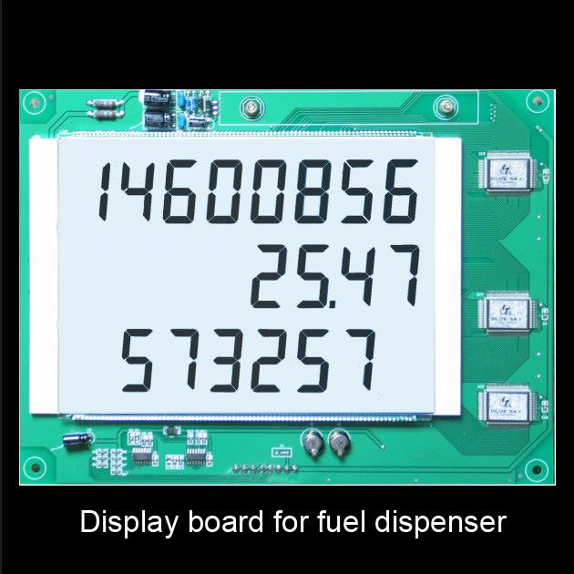 White Displayboard for Fuel Dispenser