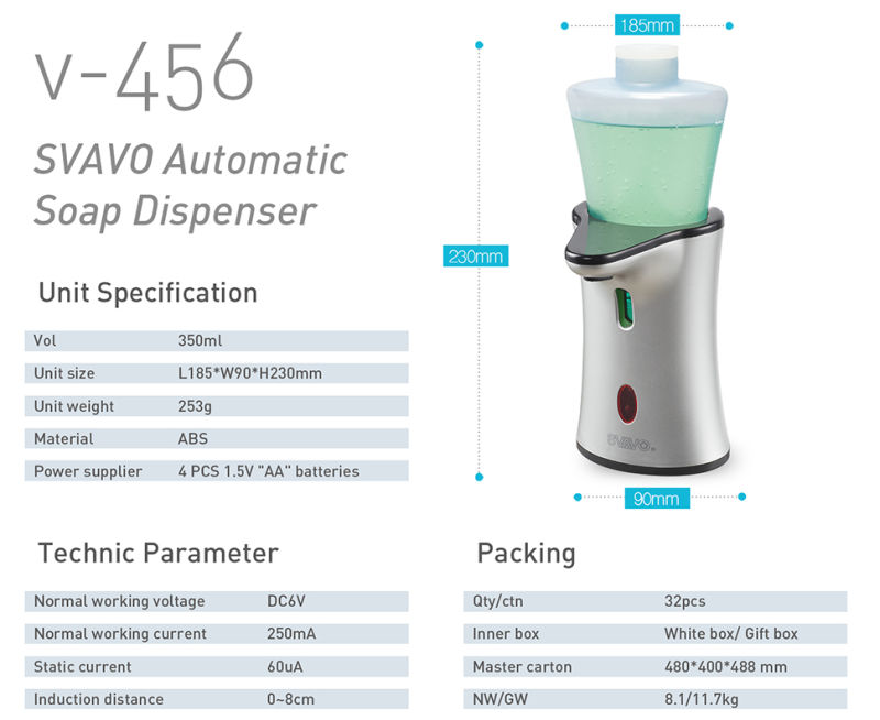 Refill Type Sensor Soap Dispenser V-456