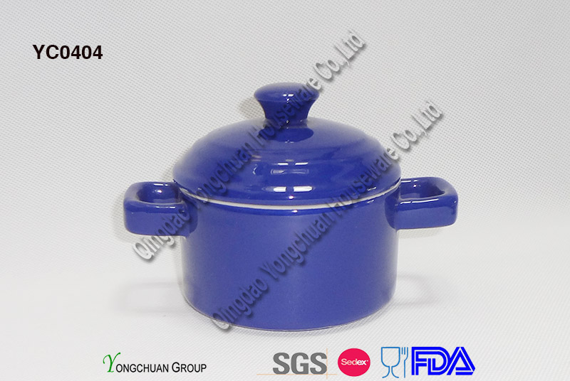 Two Tone Color Mini Casserole with Lid