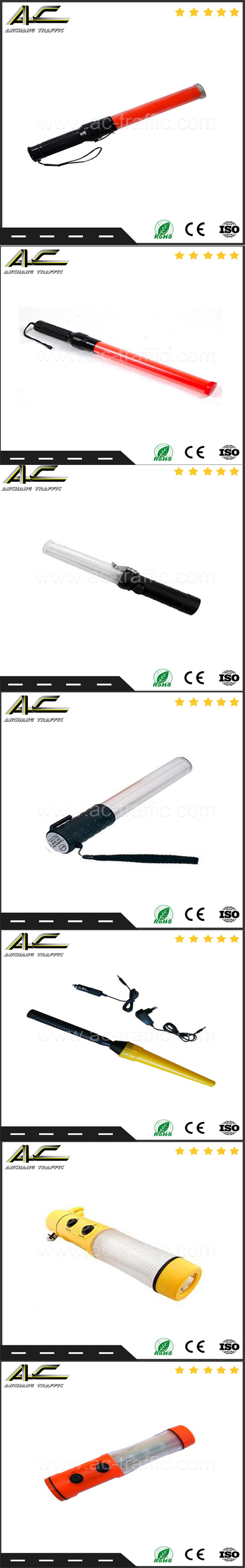 Roadside Used Police Hand Magnetic Traffic Signal Baton with Torch