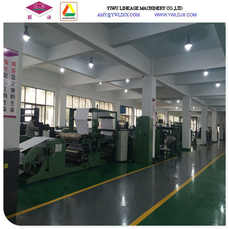 Ld-Gnb760two Lines Tape Glued Notebook Making Machine 2 Sets of Gluing Lines