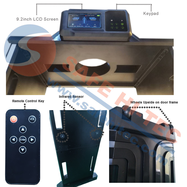 Anti Interference Full Body Metal Detectors / Walk Through Security Scanners