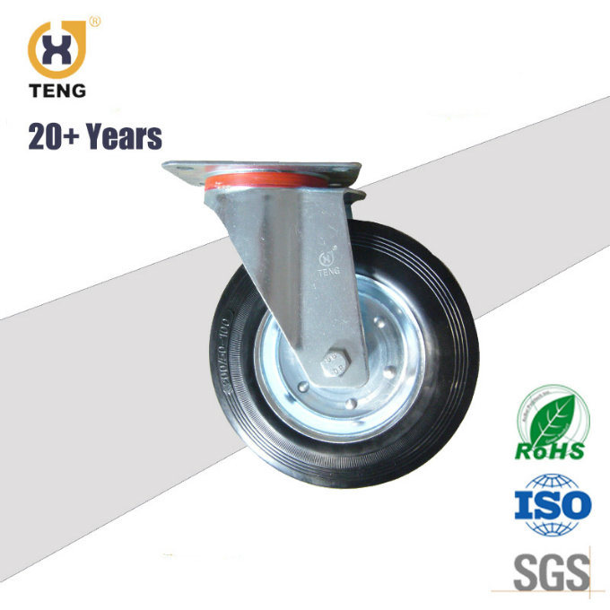 High Quality Rubber on Iron Core Caster Wheel
