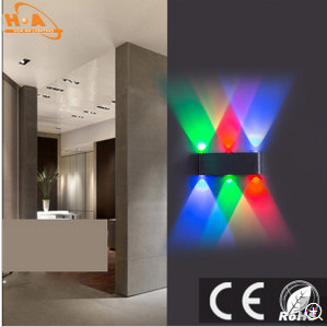 European Indoor Fresh RGB Lighting Wall Lamp with CCC