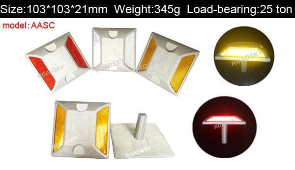 Driveway Marker Aluminum LED Solar Road Warning Light
