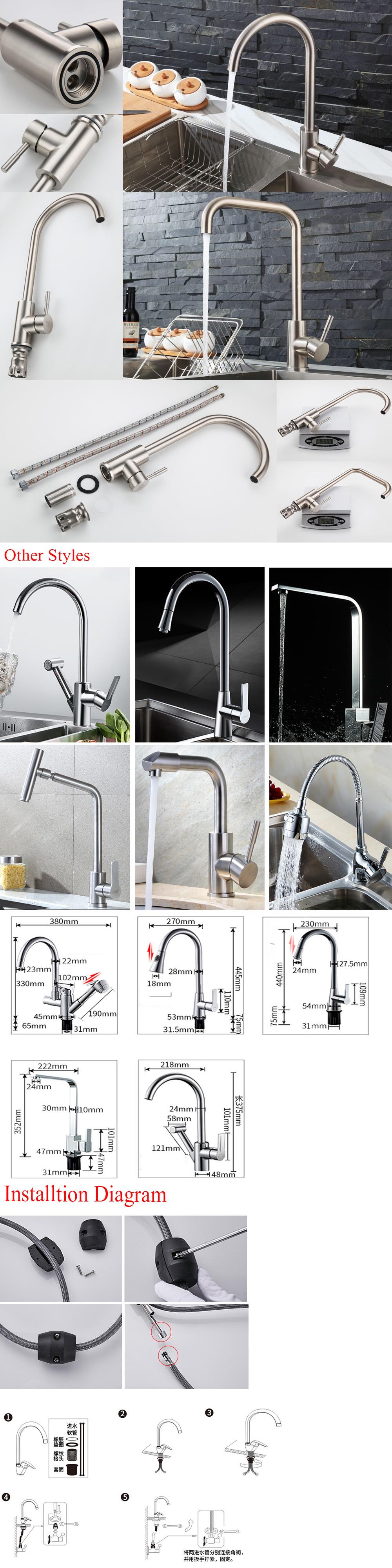 Cheap Single Handle Long Neck Kitchen Faucet