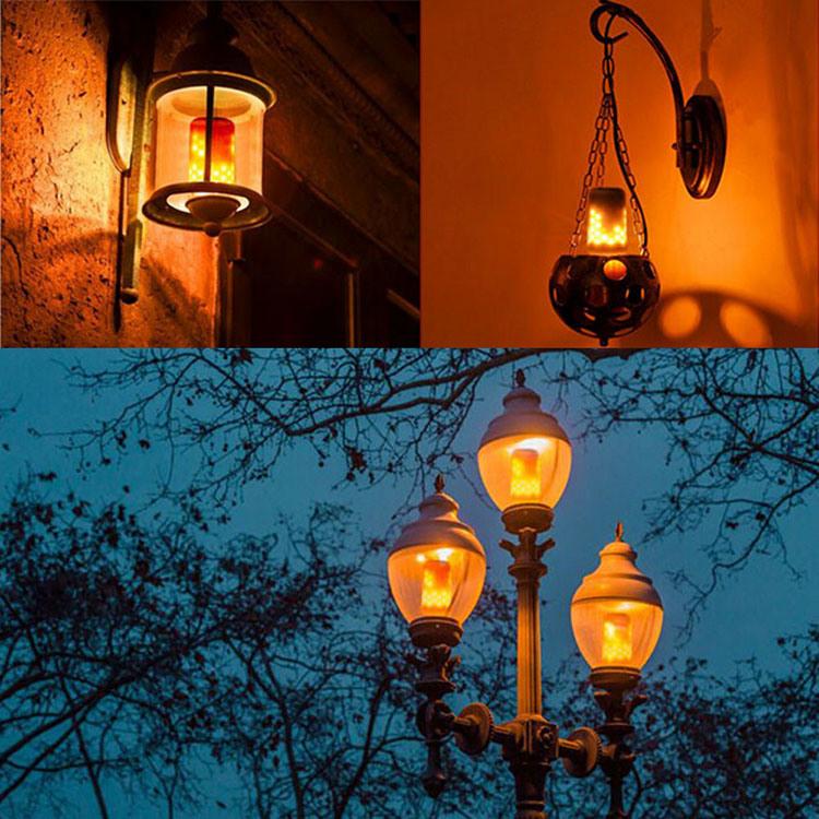 Hot Sell LED Fire Effect Bulb Light 5W AC85 - 265V E26 E27 Flame Lamp