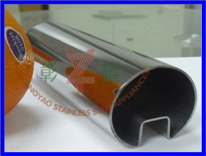 Welded Stainless Steel Round Slotted Tube /Pipe for Glass