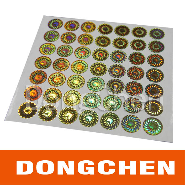 Best Supplier Waterproof 3m Adhesive Security Anti-Fake Hologram Sticker