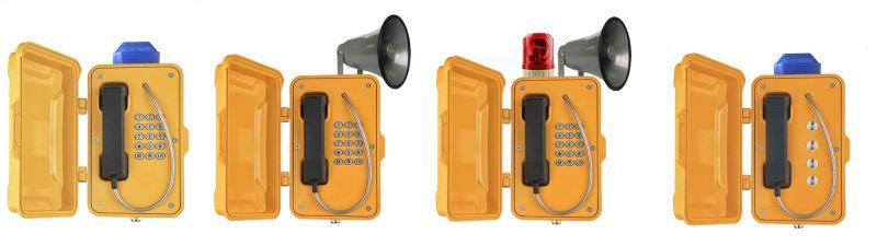 Weatherproof Wireless Phone, Tunnel Cordless Telephone, Heavy Duty SIP Phones