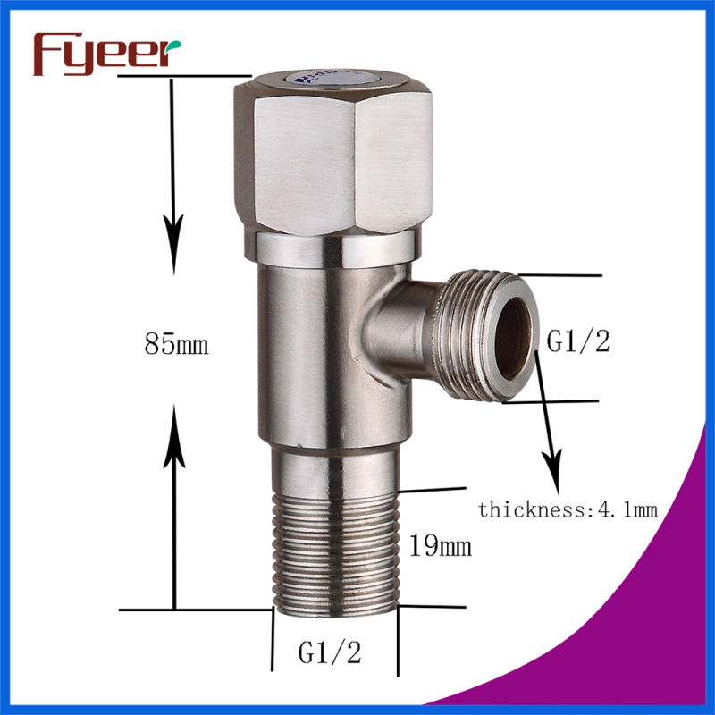 Fyeer Manufacture High Quality Brush Stainless Steel Angle Vlave