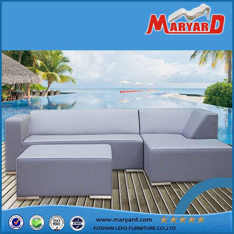 Modern Patio Leather Selectional Sofa Set