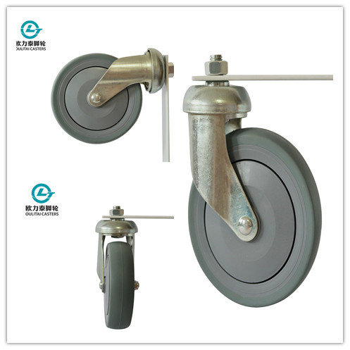 5 Inch TPR Shopping Trolley Caster (bead disc)
