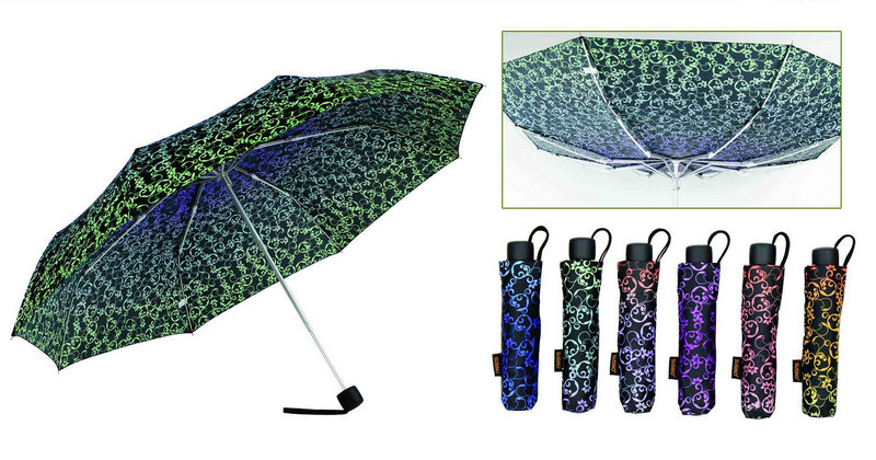 Decorative Pattern Compact Open&Close Umbrellas (YS-3FD22083971R)