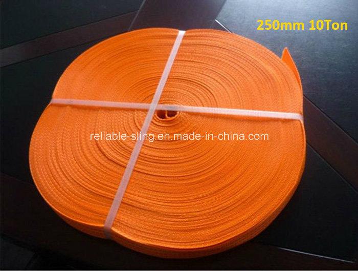 300mm Orange Polyester Heavy Duty Webbing Belt / Strap