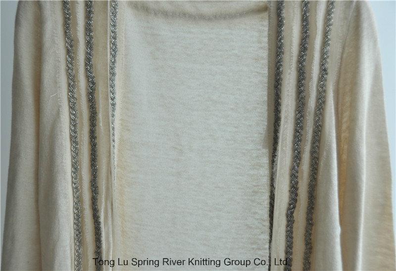 Long Sleeve Women Opean Patterned Knit Cardigan