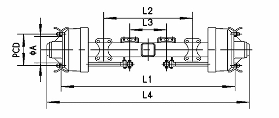 American Design in-Board Semitrailer Axle