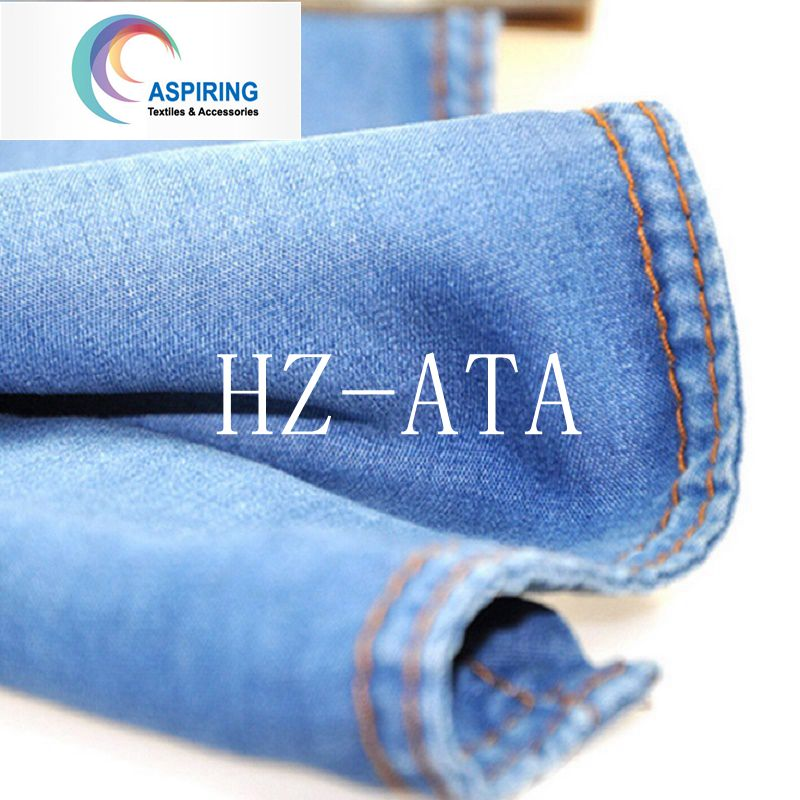 Washed Cotton Denim Fabric