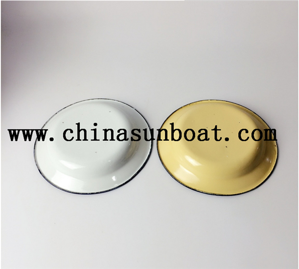 Enamel Daily Use Pure Color Plate