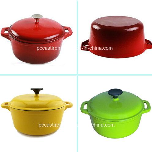 China Enamel Cast Iron Casserole Pot 3.5L