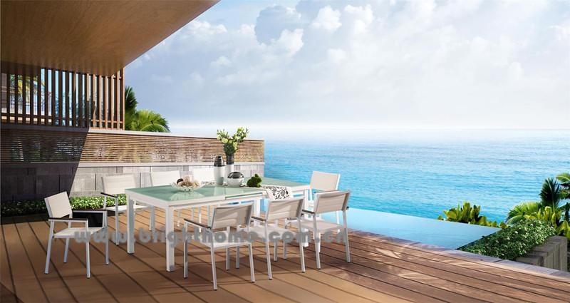 New Design Textilene Outdoor Dining Set