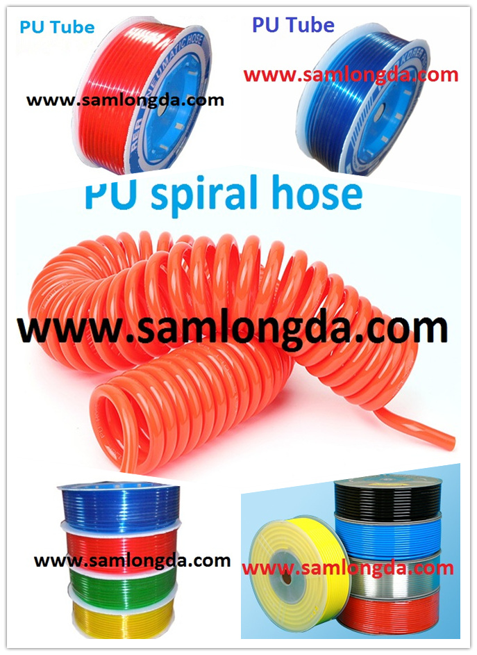 PU Tube / Polyurethane Coil Tube with BSPT Fitting, PU Tube