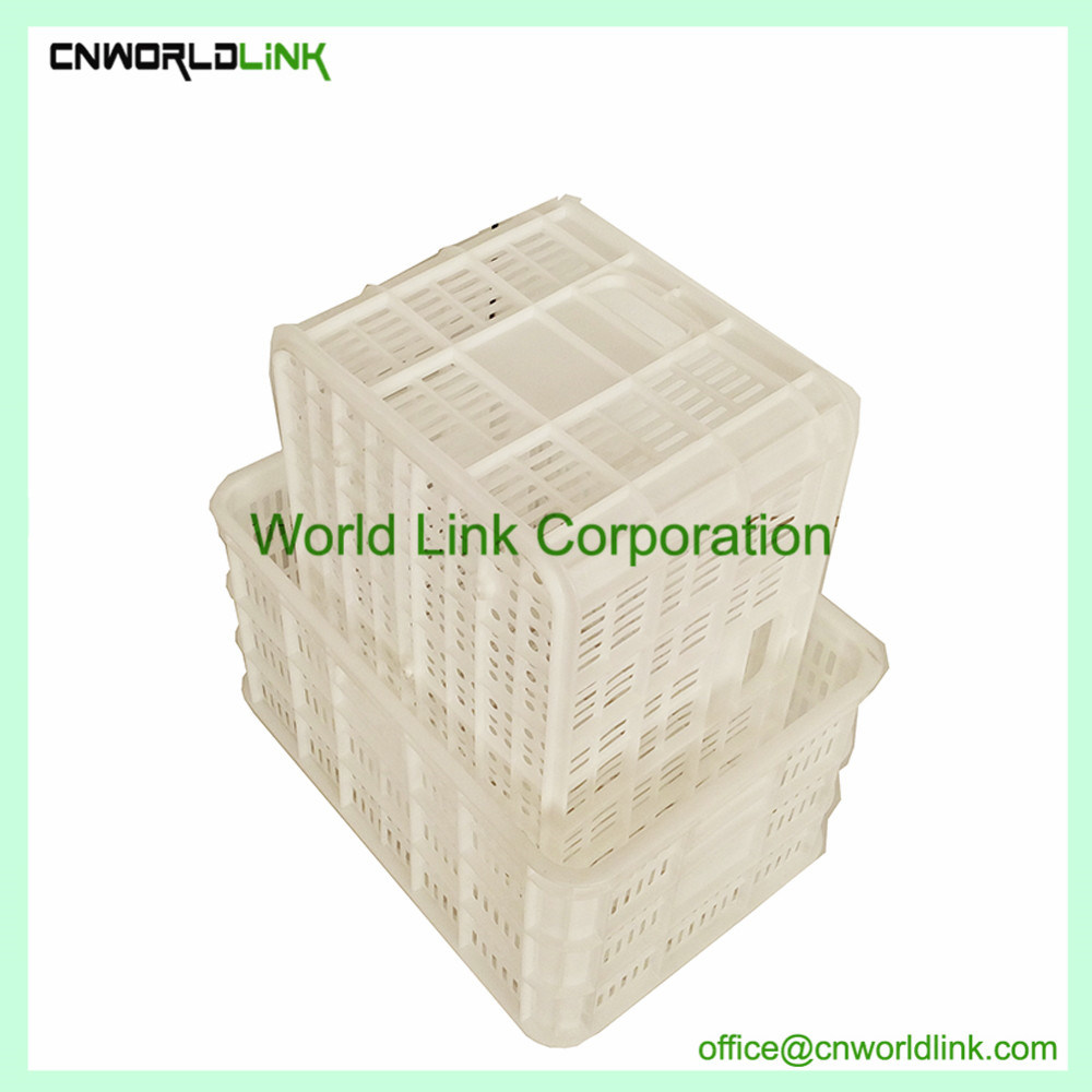 White Stackable Fruits Plastic Moving Wire PE Crate