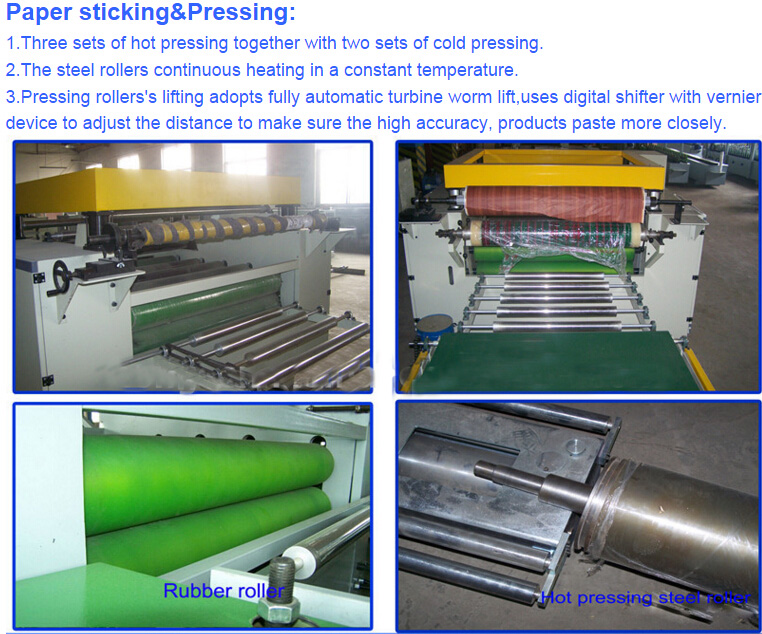 Wood Working Double Sides Automatic Laminator or PU Foam and CPP Film