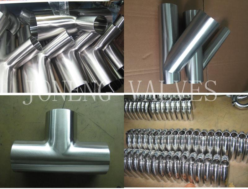 Stainless Steel Pipe Fittings Food Grade Equal Tee (JN-FT3008)