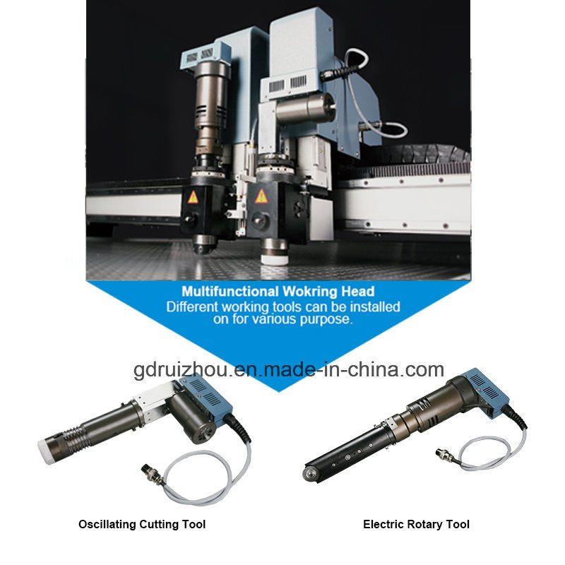 High Power Round Knife Cutter Cloth Cutting Machine with Conveyor Belt