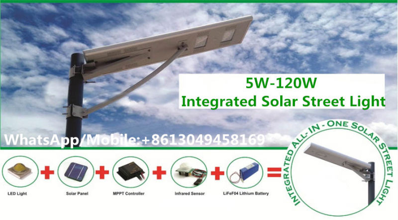 30W/40W/50W/60W Integrated/All-in-One Lights Outdoor LED Street Garden Solar Light