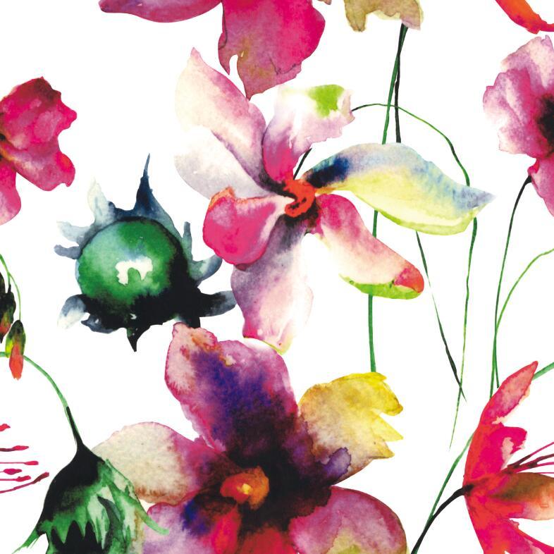 Polyester Flower Digital Printing Garment Fabric