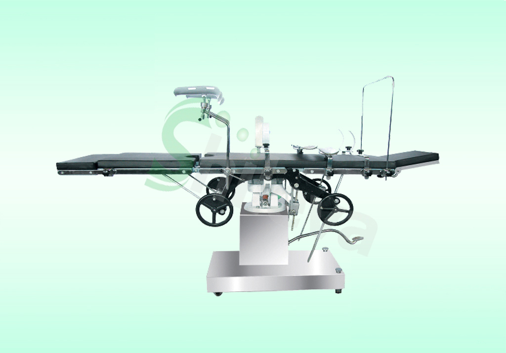 Stainless Steel Multifunctional Manual Hydraulic Surgical Operation Table (SLV-B4302)