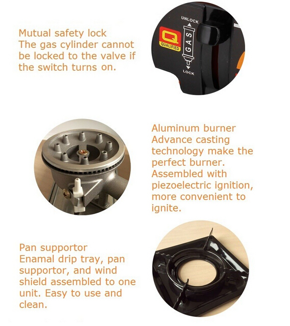 High Quality Portable Gas Cooker for Camping Use