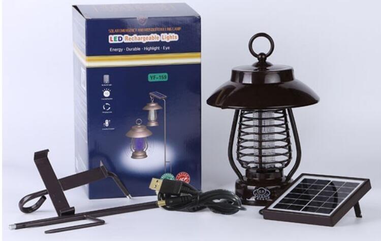 Luz Solar Lamp Solar Light Multi-Functional Portable UV LED Lamp Solar Insect Killer