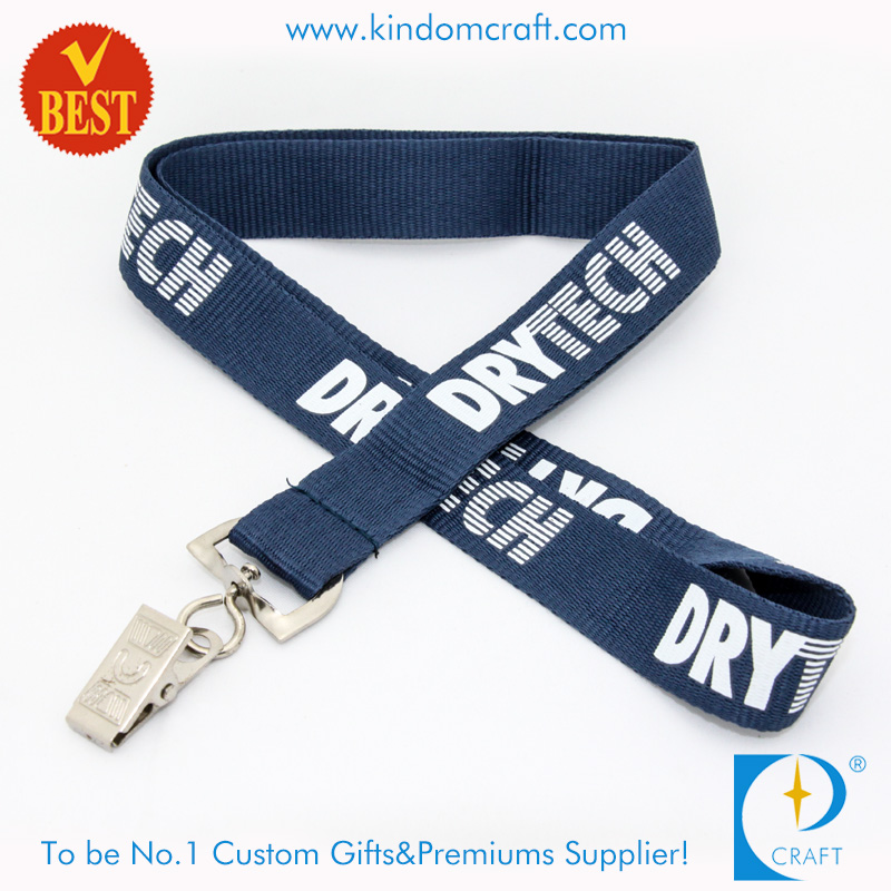 High Quality Customized Flat Polyester Printed Lanyard with Customized Logo From China